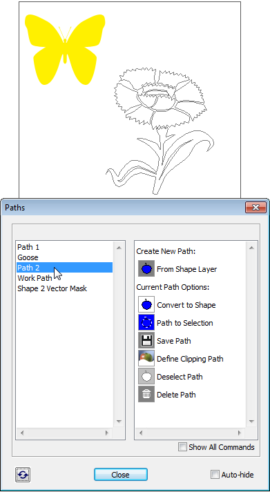 Selecting Work Path